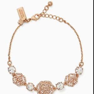 kate spade crystal rose bracelet rose gold nwt